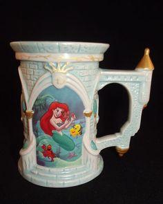 Disney Parks Exclusive The Little Mermaid Castle Mug Princess Ariel RARE | eBay