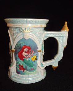 Disney Parks Exclusive The Little Mermaid Castle Mug Princess Ariel RARE   eBay