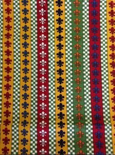 Lorraine by American Jane Fleur-de-lis Stripe Multi for Moda 21686-14 by theNeedleGarden on Etsy