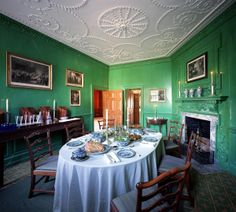 George Washington's Mount Vernon Small Dining Room