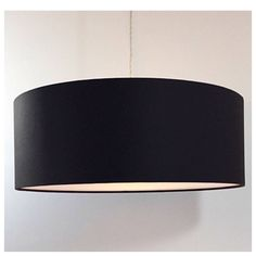 Black Drum Lightshade Light Shade Ceiling Pendant With Diffuser Various Sizes