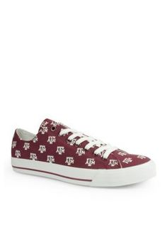 Row One Brands Maroon Unisex Texas AM University Low Top Shoes