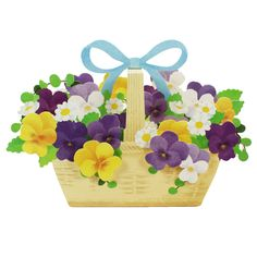 Blooming Basket - Viola - Pop Up Greeting Card #Sanrio #BirthdayEasterMothersDayAnniversary