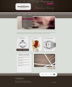 Early version of the Merkley Kendrick Jewelry website index.