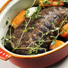 Grytstekt fransyska Swedish Recipes, Italian Recipes, Meat Recipes, Cooking Recipes, Pot Roast, Crockpot, Slow Cooker, Pork, Beef