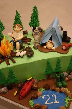 Camping Theme Birthday Cake