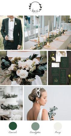 da17da98d21 Eucalyptus and Emerald Wedding Inspiration Emerald Wedding Colors