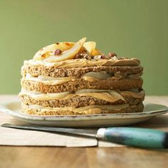 Ground hazelnuts replace most of the flour in this spectacular pear cake.