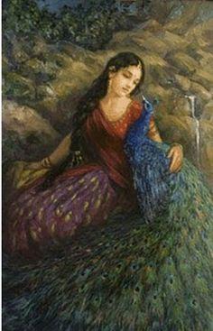 Radha and the Peacock