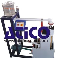 Impact of Jet Vanes Apparatus Impact of Jet Apparatus consists of a centrifugal pump coupled with electrical motor, supply tank, measuring tank & pipe fittings for closed loop water circulation. Pressure and Vacuum gauges are connected on delivery and suction side of pump for the purpose of measurement.  https://www.aticoexport.com/products/impact-of-jet-vanes-apparatus/  more information   https://www.aticoexport.com/product_category/fluid-mechanics-lab/