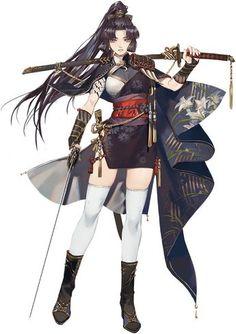 The Samurai. Samurai Girl, Samurai Anime, Female Samurai, Samurai Swords, Anime Fantasy, Fantasy Girl, Girls Characters, Female Characters, Fantasy Character Design