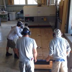 Wide belt sander- The heart of the workshop. ️ #custommade #furnituremakers #australiandesign #vistasttable #scmgroup #workshop #woodworking @saxon_crinis @meer.freiheit