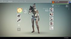 Destiny ps4 game | Menu | Inventory | #ui #interface #flat #scifi #destiny #game
