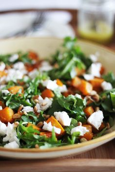 Roasted Pumpkin and Rocket Salad via food on paper #healthy #fall