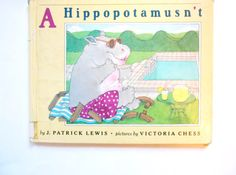 A Hippopotamusn't a Vintage Children's Book by lizandjaybooksnmore