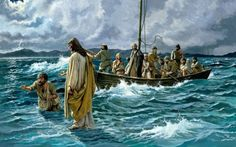 JESUS SOBRE LAS AGUAS CAMINANDO