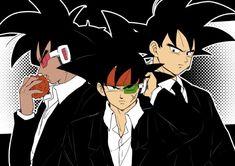 Turles, Bardock, and Goku Black