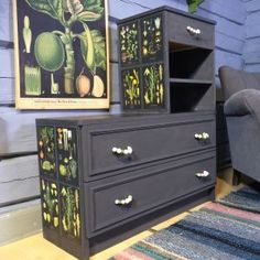Update old furniture Old Furniture, Upcycled Furniture, Reuse, Repurposed, Recycling, Cabinet, Storage, Interior, Den