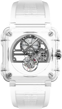 The new Bell & Ross Skeleton Tourbillon Sapphire watch with images, price, background, specs, & our expert analysis. Bell Ross, Patek Philippe, Fine Watches, Cool Watches, Ladies Watches, Men's Watches, Devon, Cartier, Omega