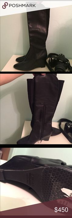 Stuart Weitzman soft leather knee high boots Stuart Weitzman soft leather knee high boots. Very comfy with wedge Stuart Weitzman Shoes Over the Knee Boots