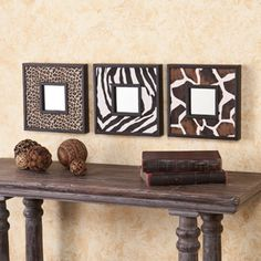 Decorative Mirrors in a striking animal print to add charm and vivacity to your home