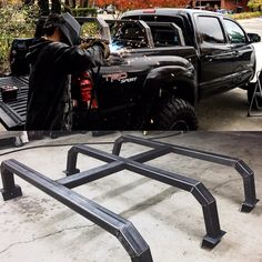 Spent the day working on this roof rack New Trucks, Custom Trucks, Cool Trucks, Toyota Trucks, Chevy Trucks, Pickup Trucks, Truck Accesories, Truck Bed Accessories, Pick Up