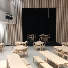 Skandinavia chairs, benches and tables designed by Kari Virtanen. Architecture and interiors for Rajatorppa school, Finland: by Haptic, AFKS Architects and Architects Rudanko+Kankkunen. Architecture, Benches, Finland, Offices, Tables, Chairs, Interiors, Furniture, School
