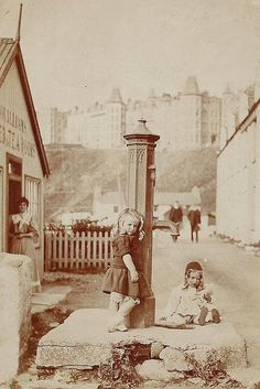 Port Erin, Isle of Man, c.1905 by Richard and Gill, via Flickr | Childhood memories playing right here...