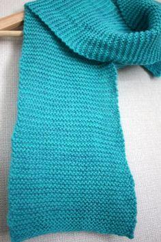 estonian lambswool and silk/mohair garter knit scarf in aqua akandko.com