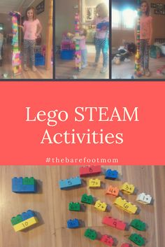 Lego STEAM Activities-Legos are a favorite learning tool in our homeschool. They can be used for so many different types of activities and are always fun! In this post I share six fun STEAM activities using Legos! Stem Projects For Kids, Science Projects, Preschool Learning Activities, Steam Activities, Science For Kids, Barefoot, Check, Mom