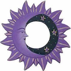 Sun, Moon and Stars - Purple - Mirror