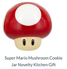Another favourite of ours is this Super Mario Mushroom cookie jar for your kitchen table. Impress friends with this piece of Super Mario game memorabilia.  #Supermariomushroom #supermario #cookiejar #kitchen #iwtat #gifts