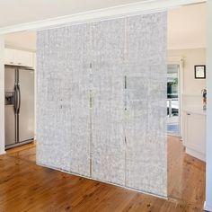 Tende scorrevoli set - Concrete Ciré Wallpaper - 4 Pannelli Piano, Ikea, Divider Ideas, Flooring, Dividers, Room, Furniture, Home Decor, Houses
