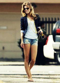 shorts and blazer