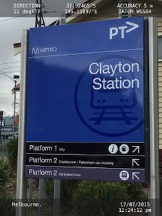 Sign tells you which train station platform goes to the city #design #advertising #marketing #boutiques #engineer #deviantart #Russia #usa
