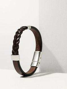Massimo Dutti Herringbone Braided Bracelet