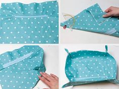 Tutoriales DIY: Cómo hacer un bolso cambiador con tres bolsillos vía DaWanda.com