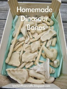 Kitchen Floor Crafts: Homemade Dinosaur Bones- make bones with salt dough and us. - Craft Ideas - Kitchen Floor Crafts: Homemade Dinosaur Bones- make bones with salt dough and use them as an anatom - Dinosaurs Preschool, Dinosaur Activities, Craft Activities, Toddler Activities, Dinosaur Projects, Dinosaur Crafts For Preschoolers, Health Activities, Vocabulary Activities, Dinosaur Printables