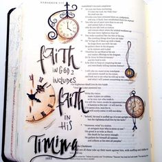 Faith in God includes faith in his timing. #biblejournaling #GodsWord