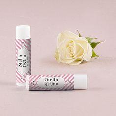 'Candy Stripe' Personalized Lip Balms