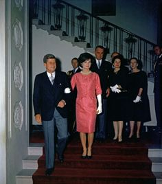 President John F. Kennedy, Jacqueline Kennedy, Attend Reception for Members of the Diplomatic Corps~ 8 February 1961