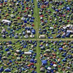 fotografías de Klaus Leidorf, carpas,  campamento