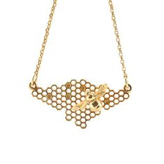 Image of HONEYCOMB BEE CHAIN GOLD