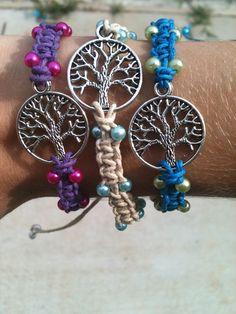 How to Make a Tree of Life Shamballa Bracelet Yoga Jewelry, Wire Jewelry, Beaded Jewelry, Jewelry Bracelets, Jewelery, Diy Crafts Jewelry, Handmade Jewelry, Jewelry Ideas, Shambala Bracelet