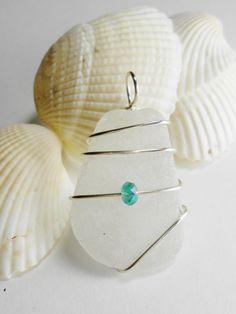 Sea Glass Pendant  Beach Glass Jewelry  POP by SeaFindDesigns, $12.00