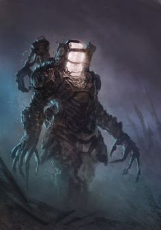 siryl: A menacing mech by Dave Rapoza (Deviantart. Fantasy Character Design, Character Design Inspiration, Character Art, Fantasy Creatures, Mythical Creatures, Beast Creature, Fallout Art, Alien Concept Art, Creature Concept