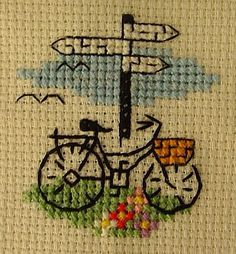 Nice Small Cross Stitch, Cute Cross Stitch, Modern Cross Stitch, Funny Cross Stitch Patterns, Cross Stitch Designs, Hand Embroidery Stitches, Cross Stitch Embroidery, Cross Stitch Landscape, Cross Stitch Boards