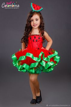 Baby Girl Dress Patterns, Baby Girl Dresses, Baby Dress, Dress Up, Watermelon Costume, Nutrition Month Costume, Vegetable Costumes, Fancy Dress For Kids, Halloween Disfraces