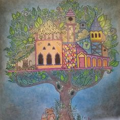 #johannabasford #enchantedforest #secretgarden #arttherapy #джоаннабэсфорд #таинственныйсад #зачарованныйлес #арттерапия #stabilo #fabercastell
