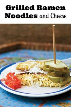 This Grilled Ramen Noodles and Cheese Recipe will be your new favorite comfort food. From Jonathon Sawyer's new cookbook- NOODLE KIDS. Ramen Recipes, Noodle Recipes, Lunch Recipes, Easy Dinner Recipes, Easy Dinners, Kids Cookbook, Cheese Ingredients, Healthy Sandwiches